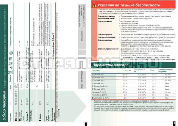 Инструкция Bosch WAB20071CE страница №6
