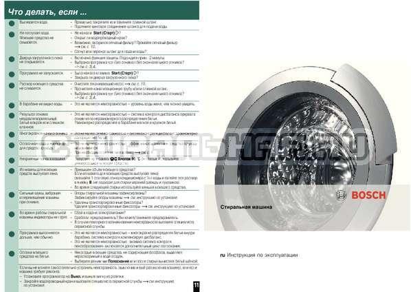 Инструкция Bosch WAB20071CE страница №8
