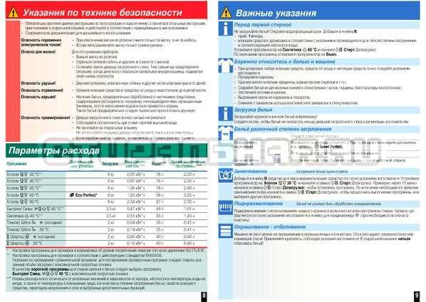 Инструкция Bosch WAS20443OE страница №7