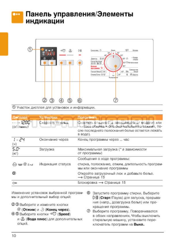 Инструкция Bosch WLG20162OE страница №10