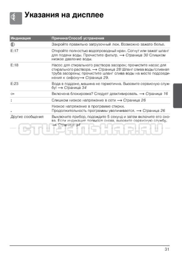Инструкция Bosch WLG20261OE страница №31