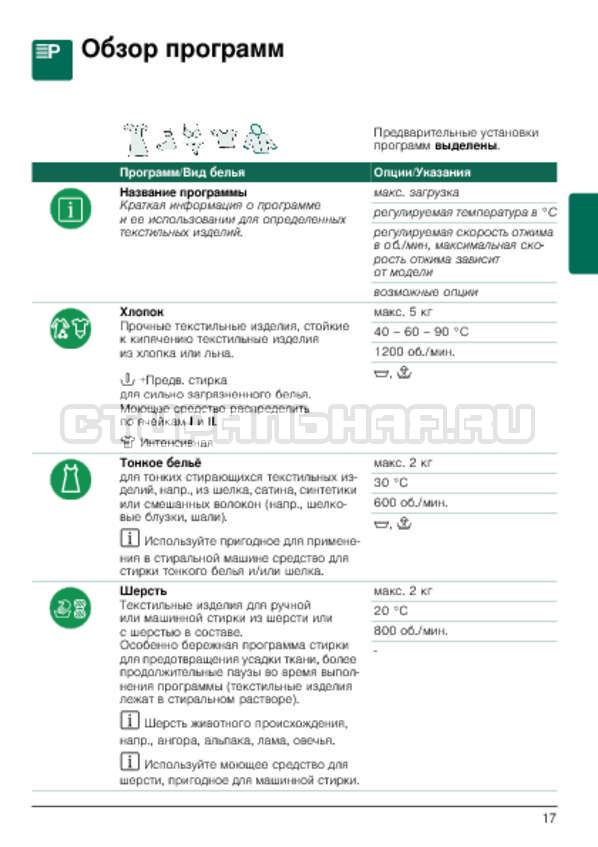 Инструкция Bosch WLG24060OE страница №17