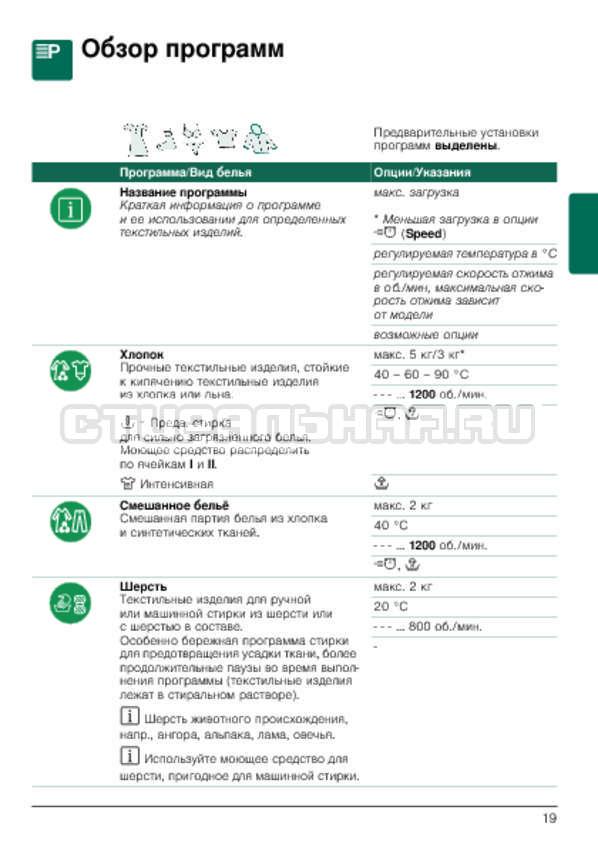 Инструкция Bosch WLG2416SOE Maxx 5 страница №19