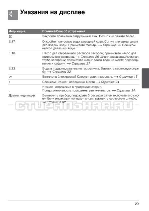 Инструкция Bosch WLG24260OE страница №29