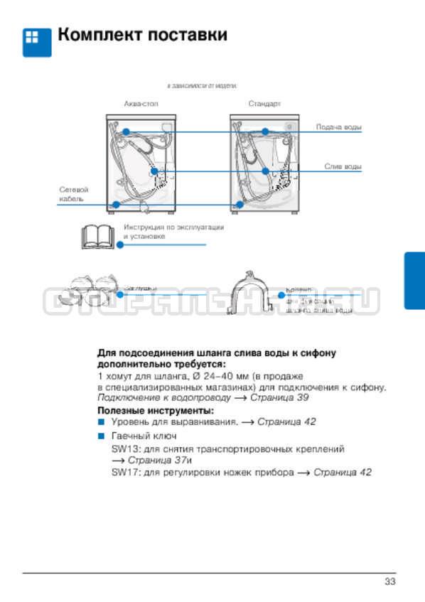 Инструкция Bosch WLG2426FOE страница №33