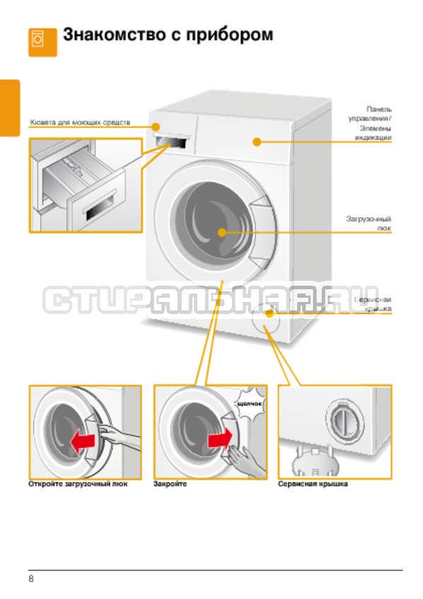 Инструкция Bosch WLG2426FOE страница №8