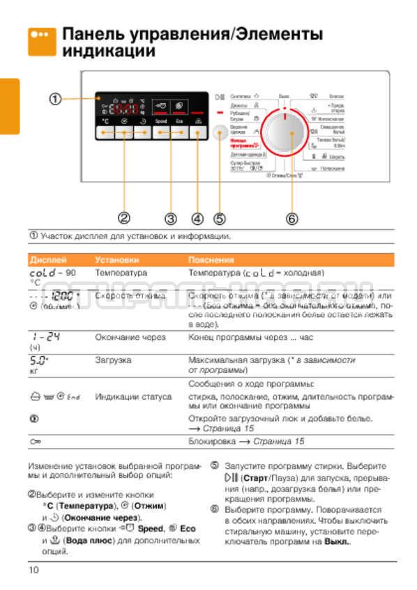 Инструкция Bosch WLG2426FOE страница №10