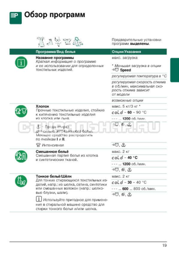 Инструкция Bosch WLG2426SOE страница №19