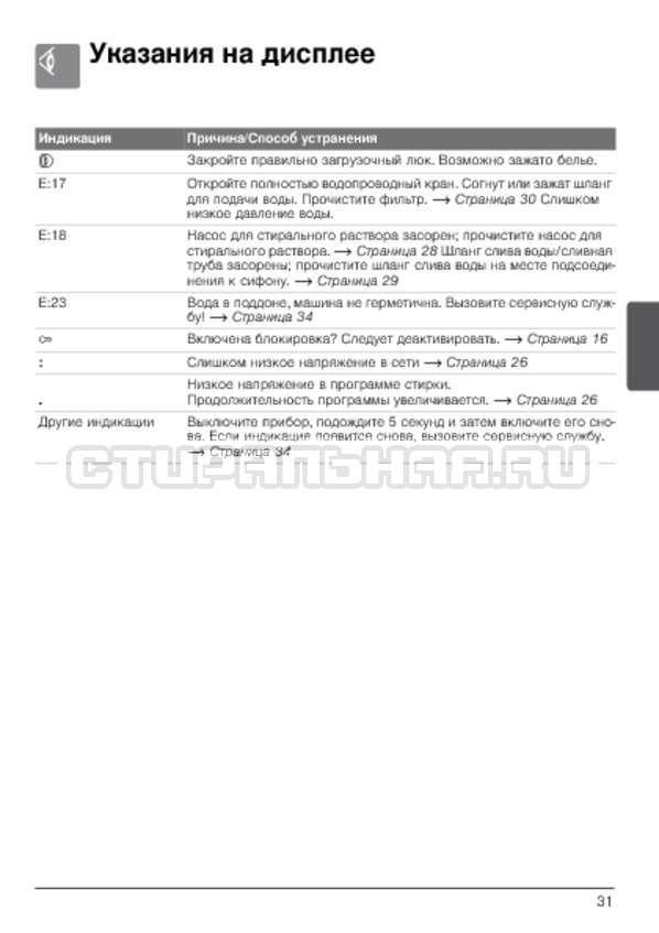Инструкция Bosch WLG2426SOE страница №31