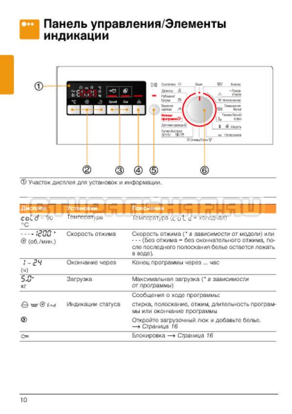 Инструкция Bosch WLG2426SOE страница №10