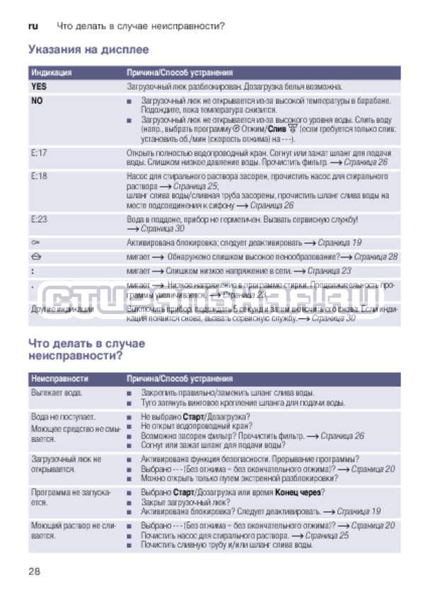 Инструкция Bosch WLK20263OE страница №28