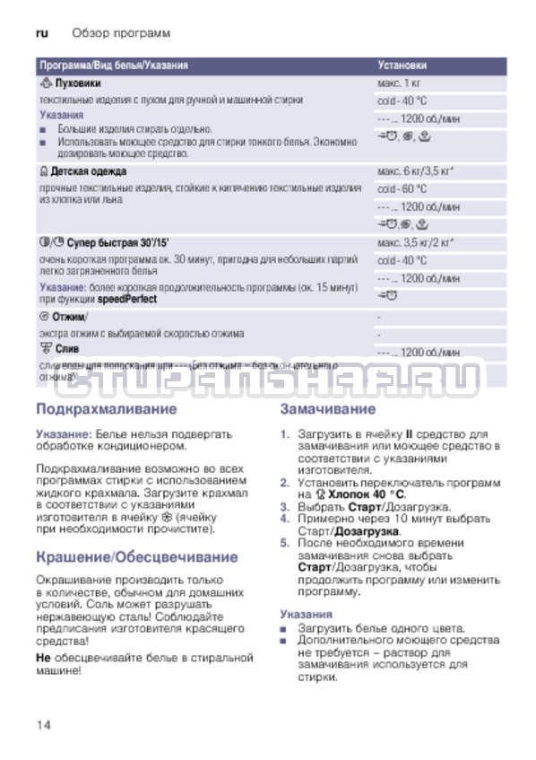 Инструкция Bosch WLK24263OE страница №14