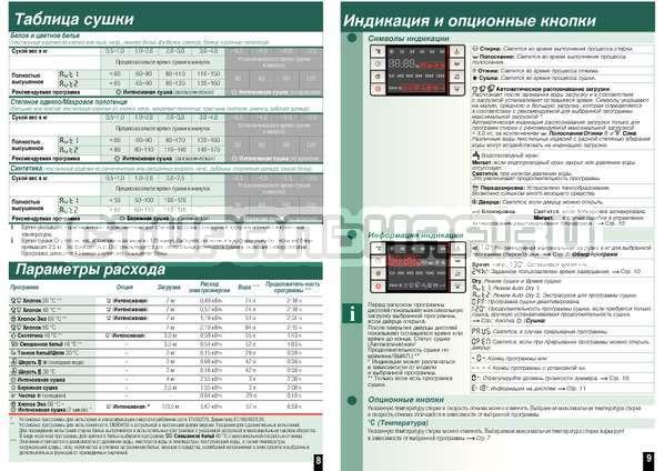 Инструкция Bosch WVH28441OE Wash Dry Avantixx страница №7