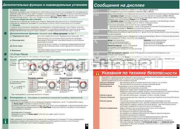 Инструкция Bosch WVH28441OE Wash Dry Avantixx страница №8