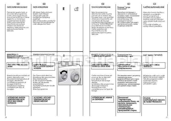 Инструкция Candy AQUAMATIC 1000 T страница №14