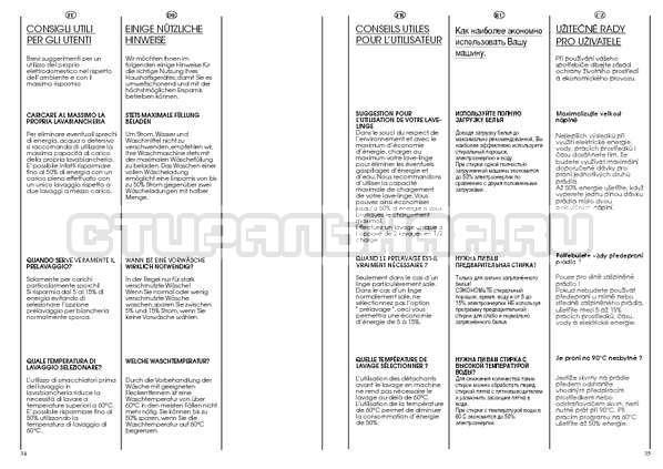 Инструкция Candy AQUAMATIC 1000 T страница №18