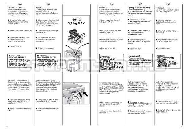 Инструкция Candy AQUAMATIC 1000 T страница №26