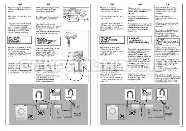 Инструкция Candy AQUAMATIC 1000 T страница №10