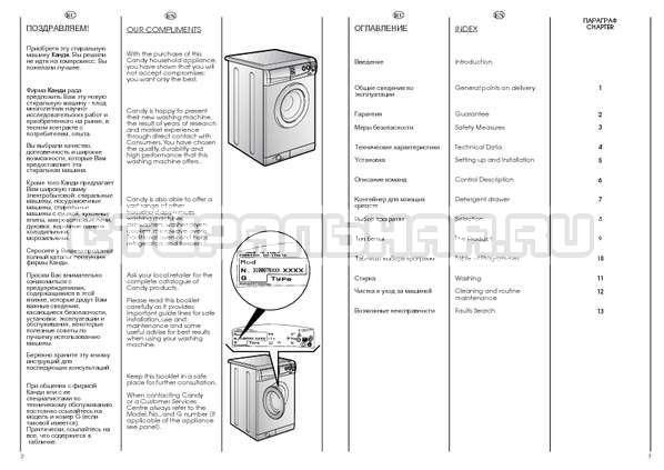 Инструкция Candy CBE 1025 T страница №2