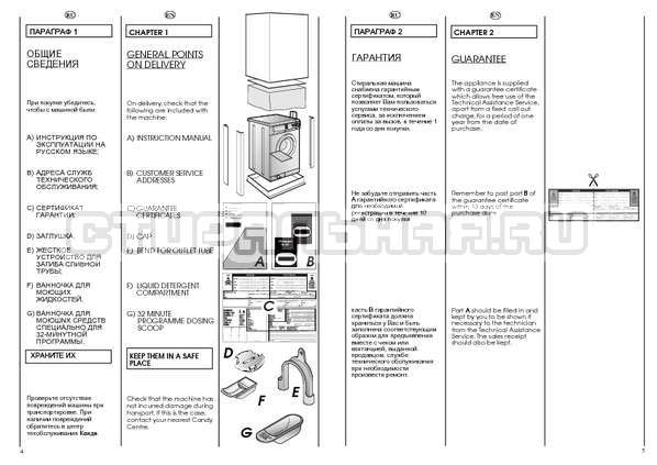Инструкция Candy CBE 1025 T страница №3
