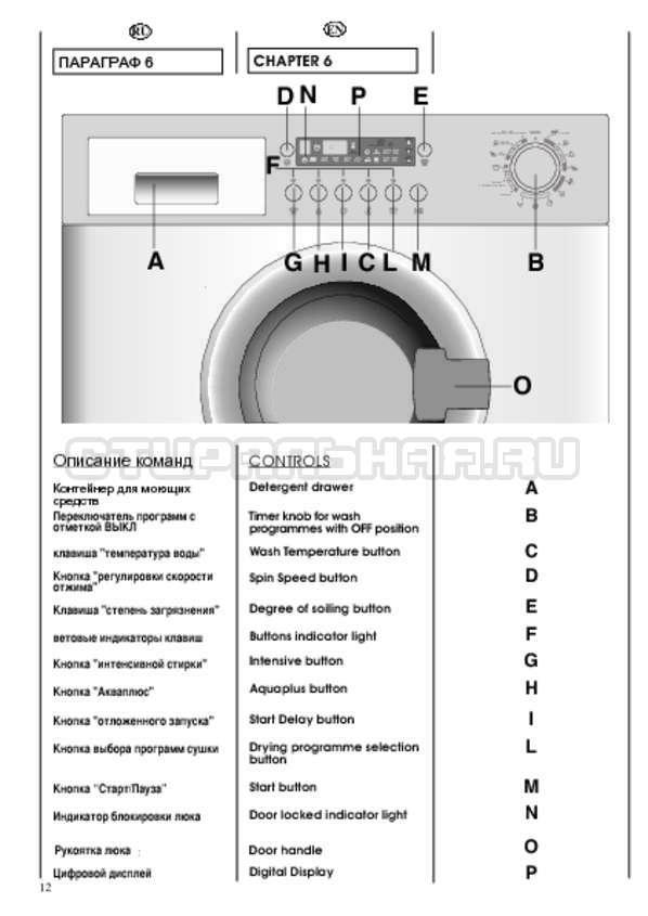 Инструкция Candy CDB 475 DN-07 страница №12