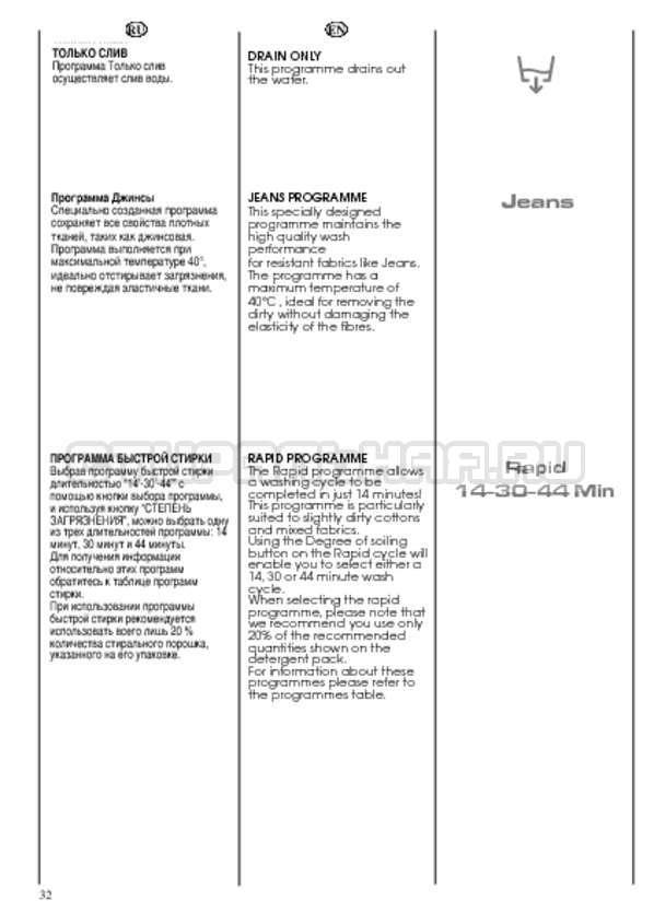 Инструкция Candy CDB 475 DN-07 страница №32