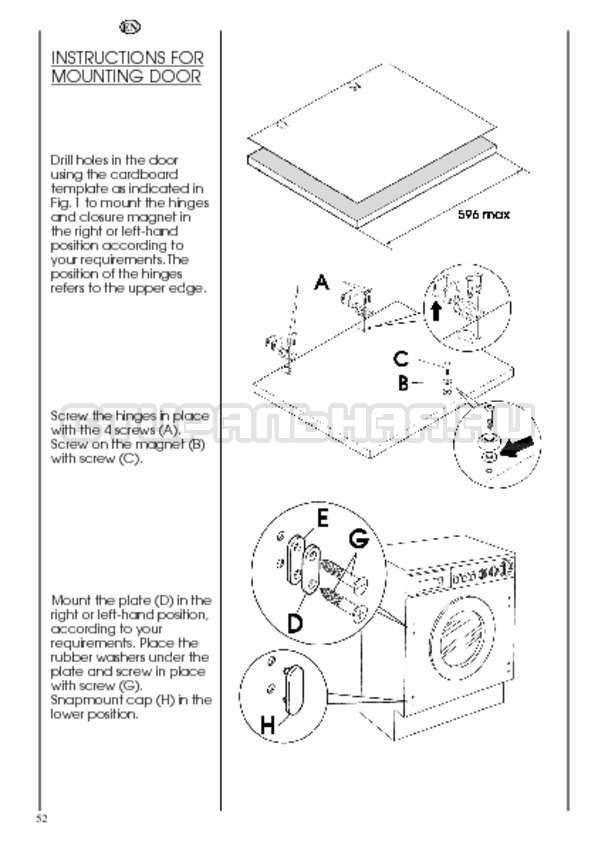 Инструкция Candy CDB 475 DN-07 страница №52