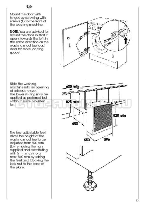 Инструкция Candy CDB 475 DN-07 страница №53