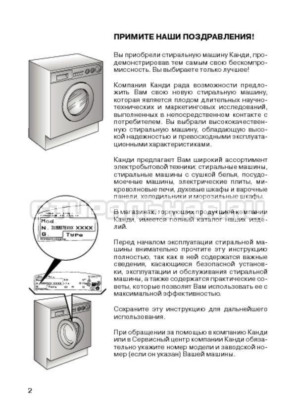 Инструкция Candy CIN 100 T страница №4