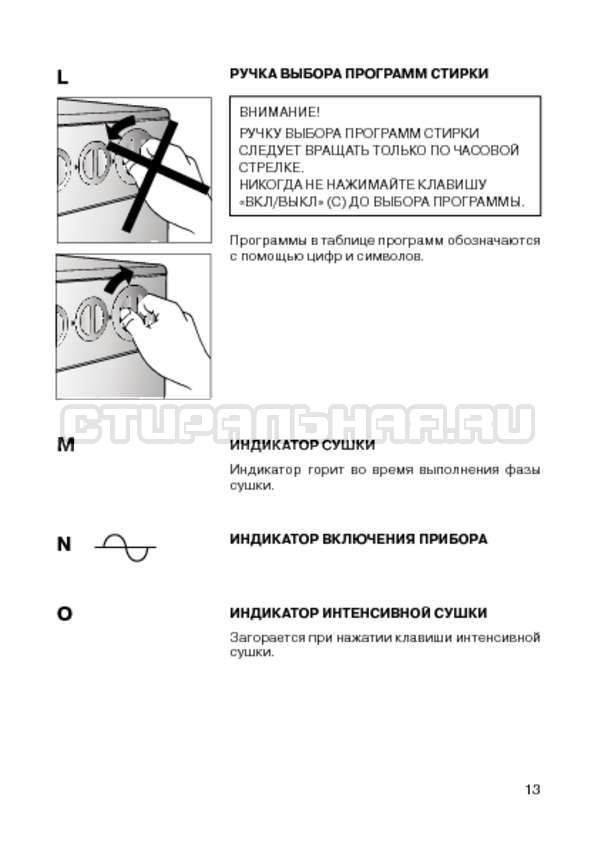 Инструкция Candy CIW 100T страница №15