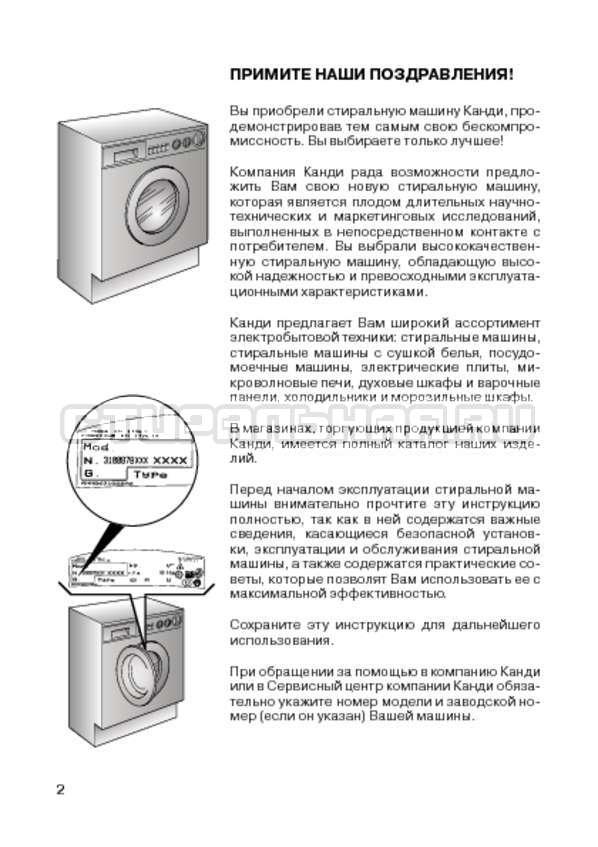 Инструкция Candy CIW 100T страница №4