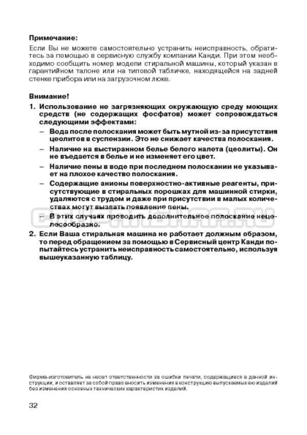 Инструкция Candy CIW 100T страница №34