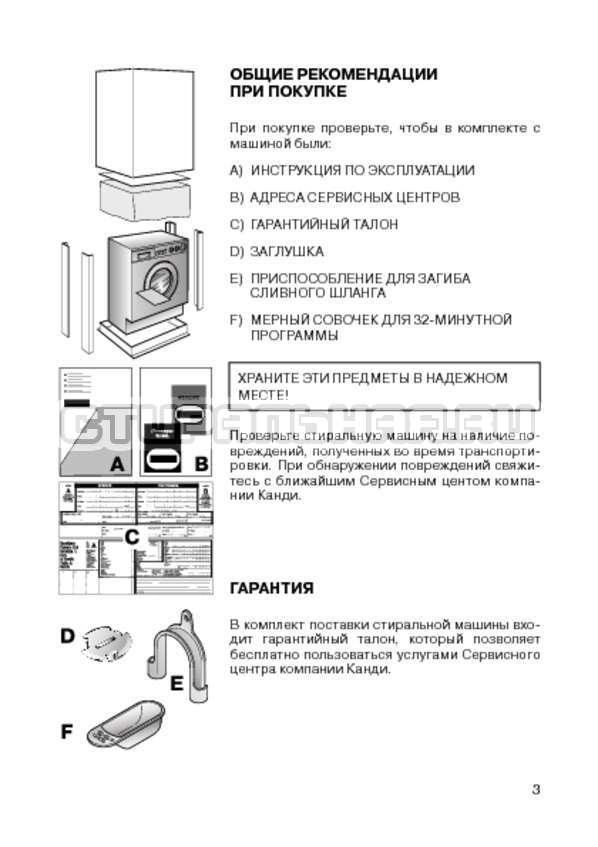 Инструкция Candy CIW 100T страница №5