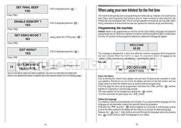 Инструкция Candy CS 105 TXT страница №23