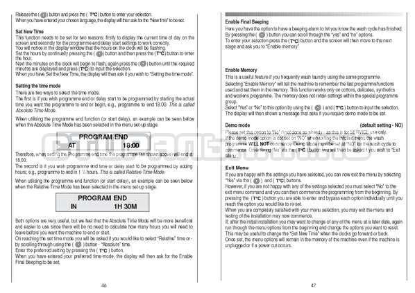 Инструкция Candy CS 105 TXT страница №24