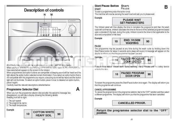 Инструкция Candy CS 105 TXT страница №25