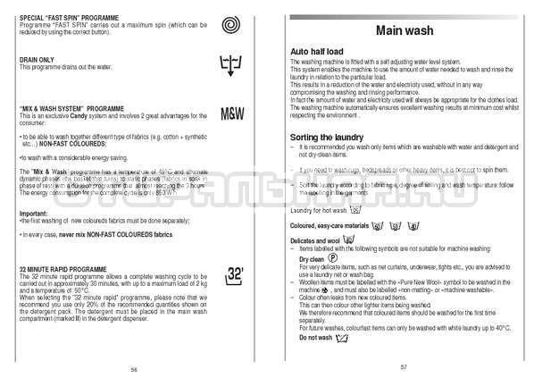 Инструкция Candy CS 105 TXT страница №29