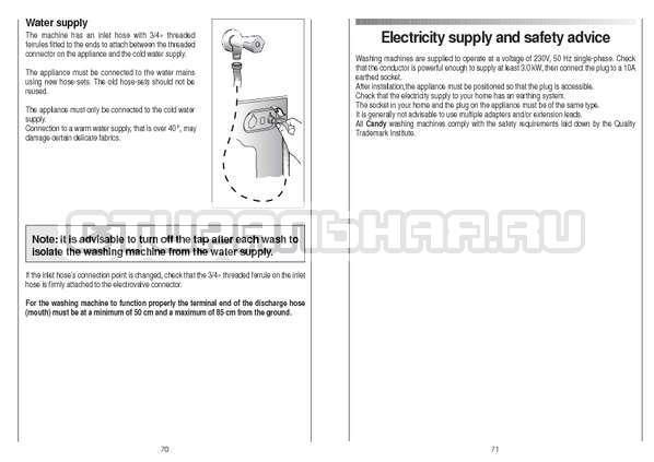 Инструкция Candy CS 105 TXT страница №36