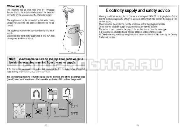 Инструкция Candy CS 125 TXT-RU страница №36