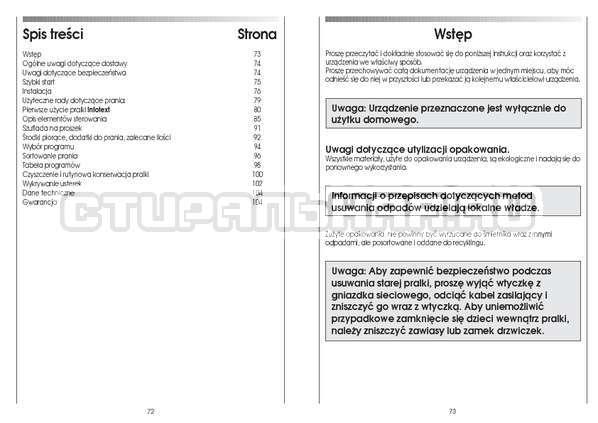 Инструкция Candy CS 125 TXT-RU страница №37
