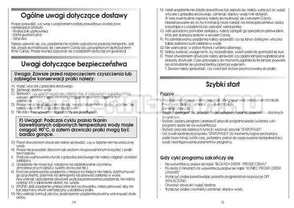 Инструкция Candy CS 125 TXT-RU страница №38