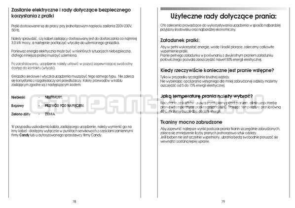 Инструкция Candy CS 125 TXT-RU страница №40