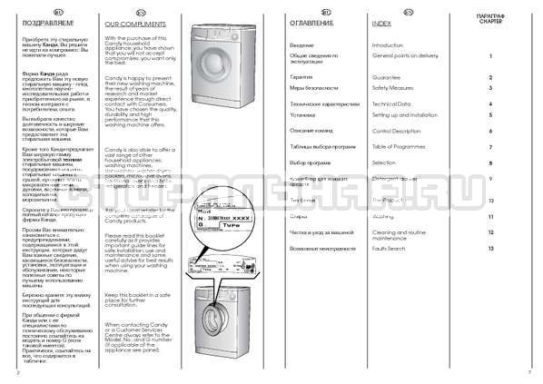 Инструкция Candy CS 2104 страница №2