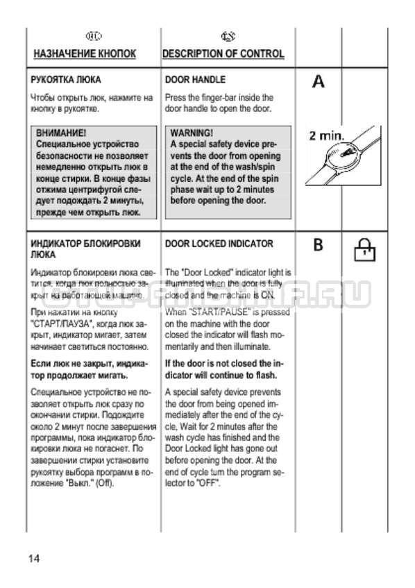 Инструкция Candy CS 2108 страница №14