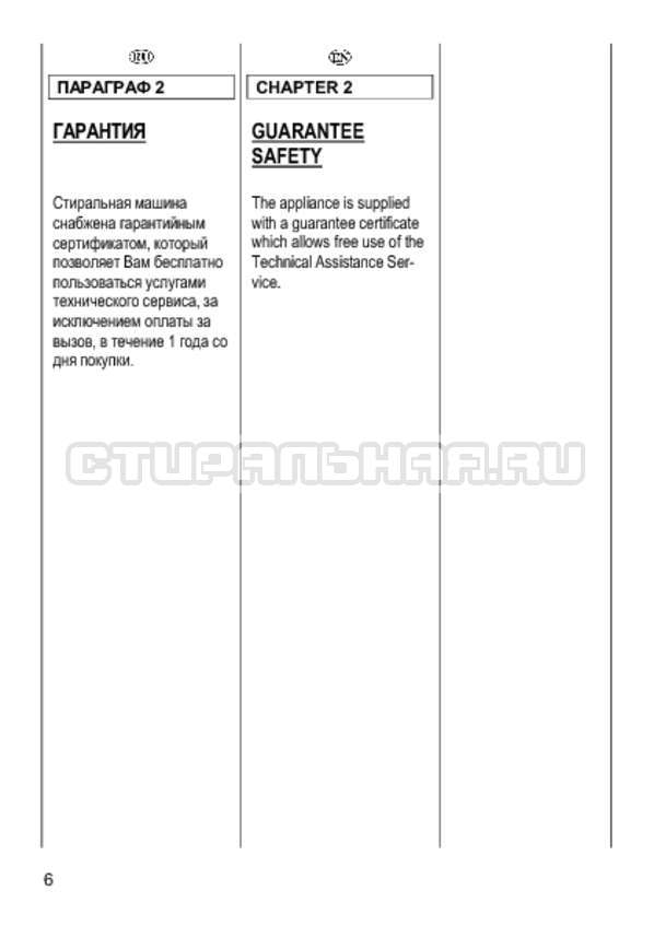 Инструкция Candy CS 2108 страница №6