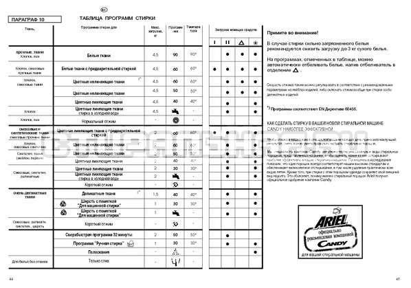 Инструкция Candy CSBL 100 страница №23