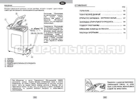 Инструкция Candy CTS 65 T страница №3