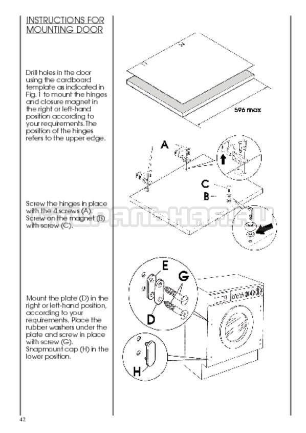 Инструкция Candy CWB 1382 DN1-07S страница №42