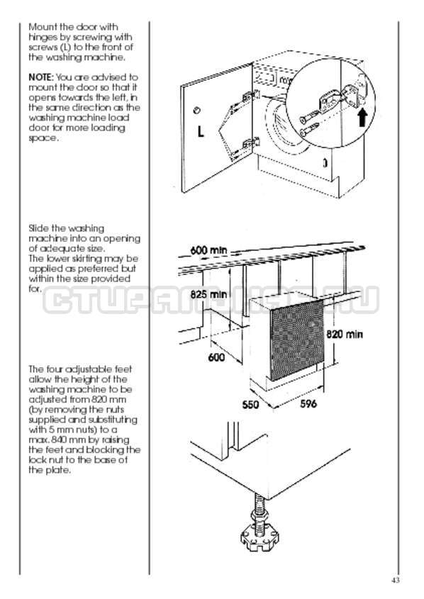 Инструкция Candy CWB 1382 DN1-07S страница №43