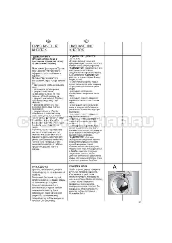 Инструкция Candy EVO44 1283 DW страница №13